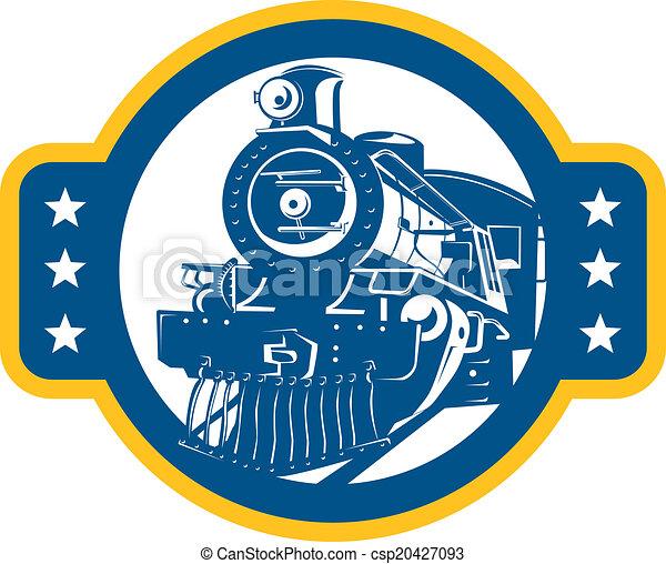 前部, 列車, レトロ, 機関車, 蒸気 - csp20427093