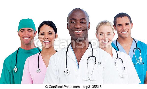 医学, ポジティブ, チーム 肖像画 - csp3135516