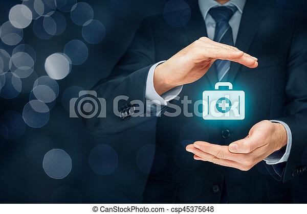 医療保険 - csp45375648