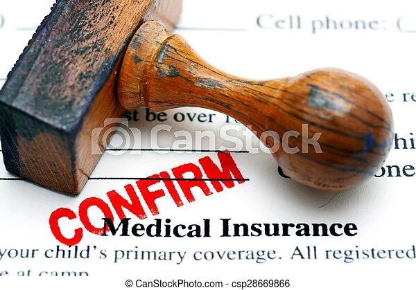 医療保険, 確証しなさい - csp28669866