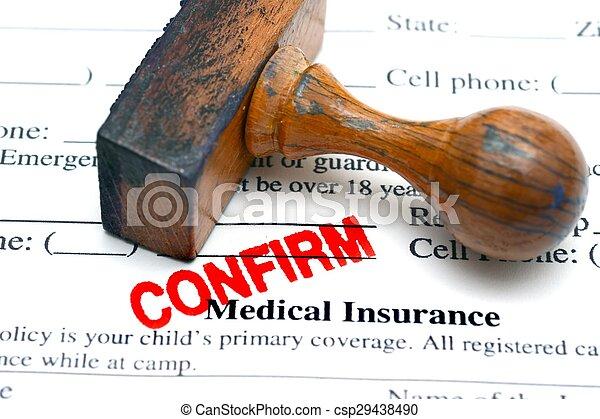 医療保険, 確証しなさい - csp29438490