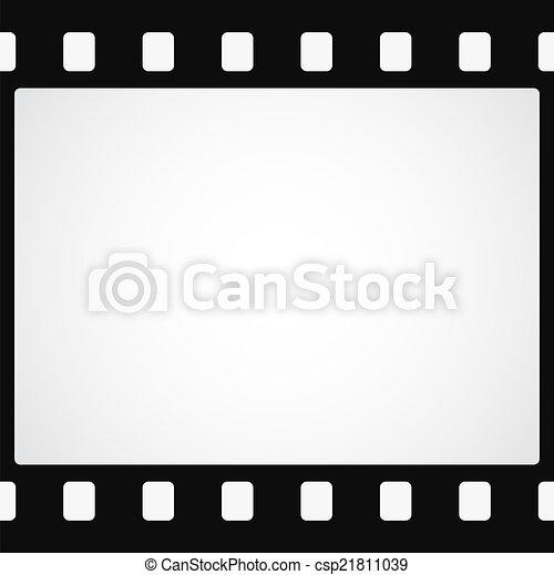 単純である, 黒, フィルム, 背景, ストリップ - csp21811039