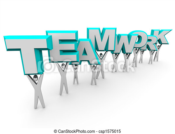 単語, チームワーク, 持ち上がること, チーム - csp1575015