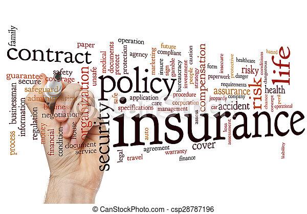 単語, 保険, 雲 - csp28787196