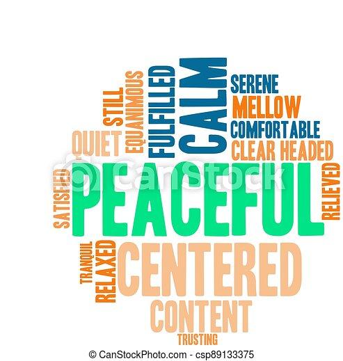 単語, 平和である, 雲 - csp89133375