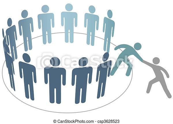 友人, 人々, 参加しなさい, 助け, メンバー, グループ, 会社, ヘルパー - csp3628523