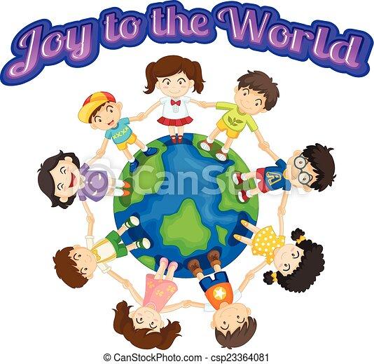 喜び, 世界 - csp23364081