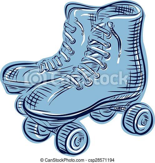 型, スケート, エッチング, ローラー - csp28571194
