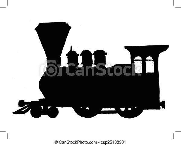 型, 列車, 蒸気 - csp25108301