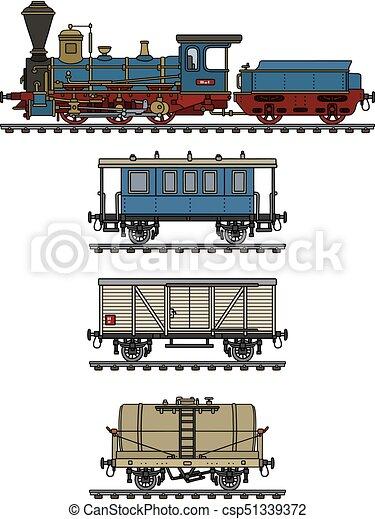 型, 列車, 蒸気 - csp51339372