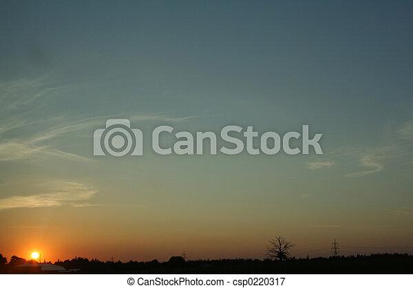 夕方, 空 - csp0220317