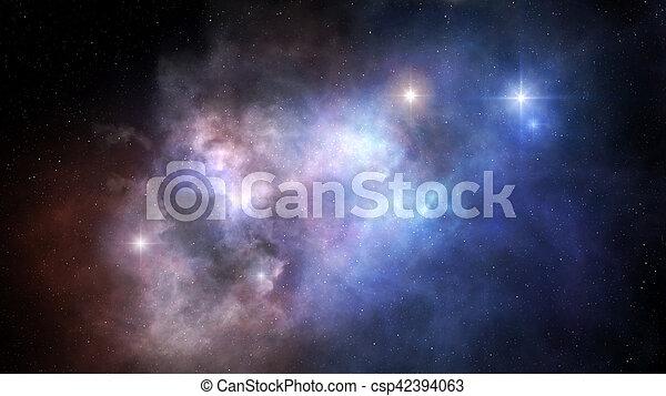 外の, 星雲, スペース - csp42394063