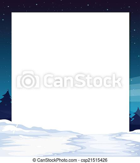 夜, 旗, 光景 - csp21515426