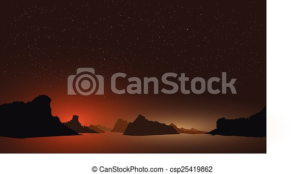 夜, ha-long, 光景, ベクトル, ベトナム - csp25419862