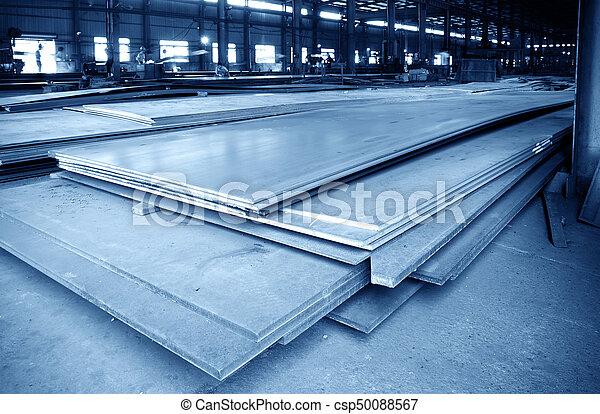 大きい, 鋼鉄, 倉庫, 工場 - csp50088567