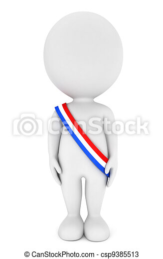 大統領, 白, 3d, 人々 - csp9385513