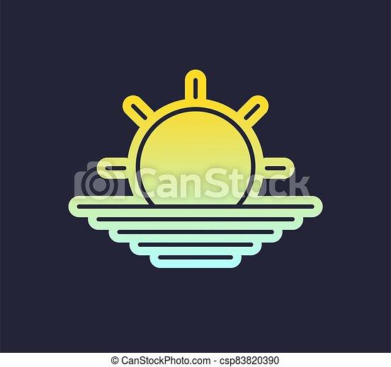 太陽, シンボル, すてきである - csp83820390
