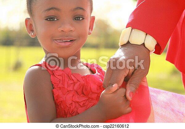 女の子, 黒, 保有物, 彼女, おばあさん - csp22160612