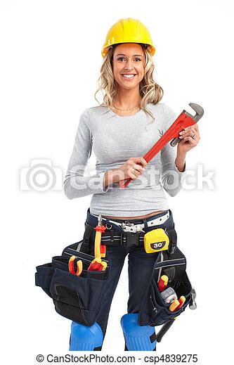女, 建築者 - csp4839275