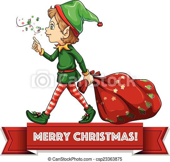 妖精, クリスマス - csp23363875