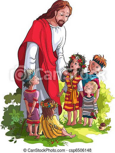 子供, イエス・キリスト - csp6506148