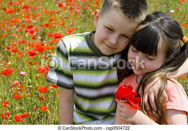 子供, 幸せ - csp0504722