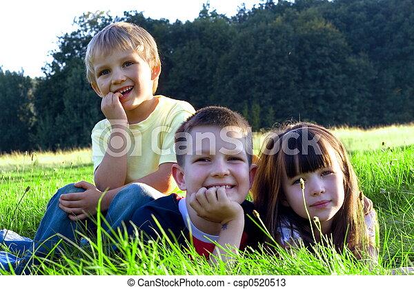 子供, 幸せ - csp0520513