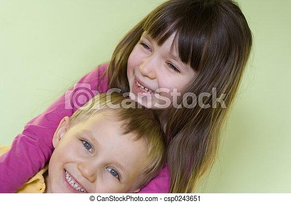 子供, 幸せ - csp0243651