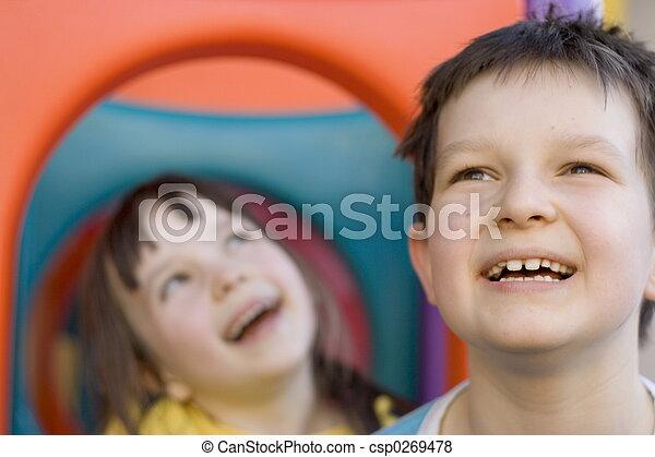 子供, 幸せ - csp0269478