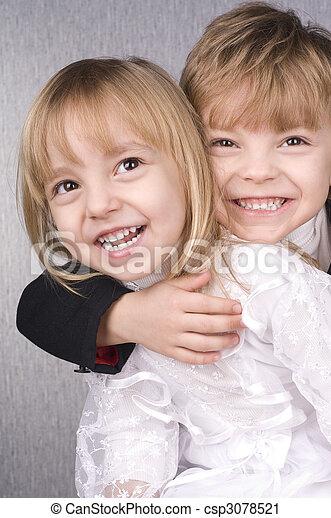 子供, 幸せ - csp3078521