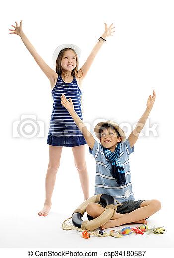 子供, 幸せ - csp34180587