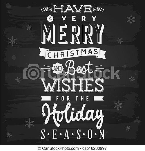 季節, 休日, 挨拶, 黒板, クリスマス - csp16200997