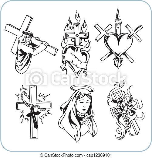 宗教, キリスト教徒, ベクトル, -, illustration. - csp12369101