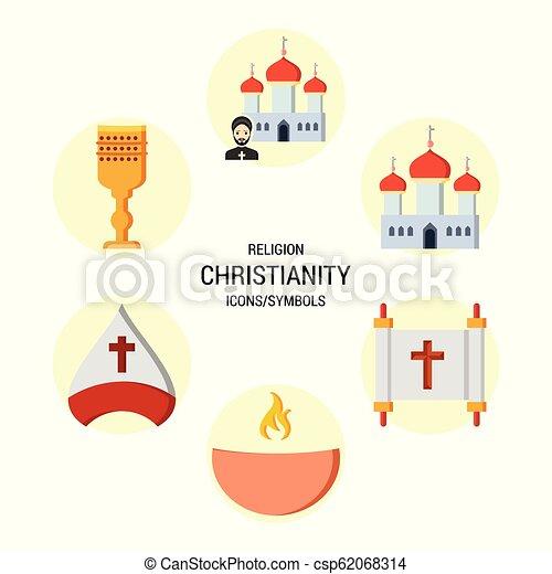 宗教, ベクトル, セット, アイコン - csp62068314