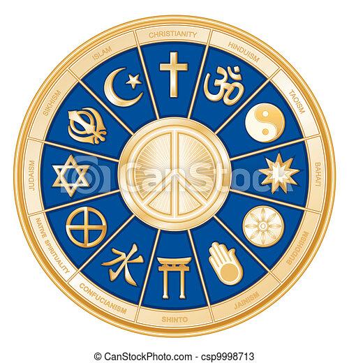 宗教, 平和, 世界, シンボル - csp9998713