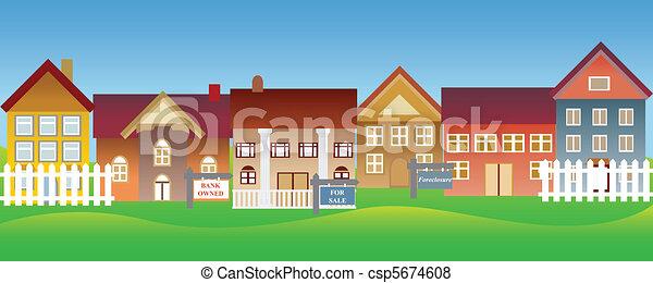 家, セール, 受戻権喪失 - csp5674608