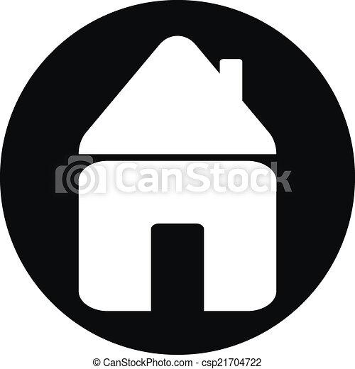 家, ボタン - csp21704722