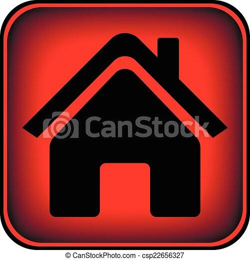 家, ボタン - csp22656327