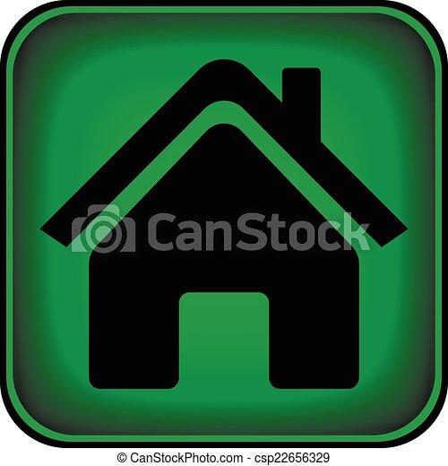 家, ボタン - csp22656329