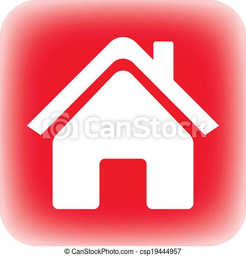家, ボタン - csp19444957