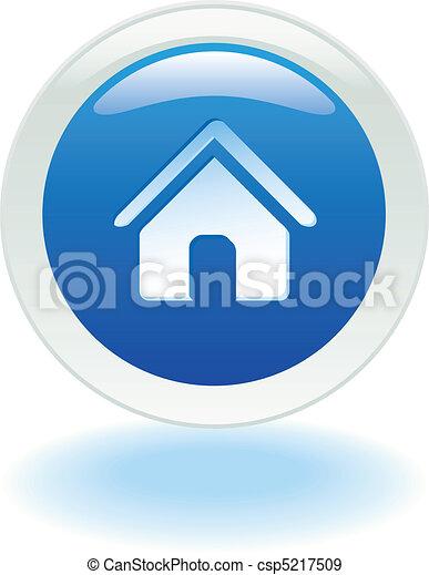 家, ボタン - csp5217509