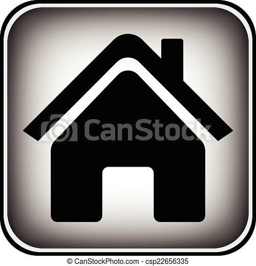 家, ボタン - csp22656335