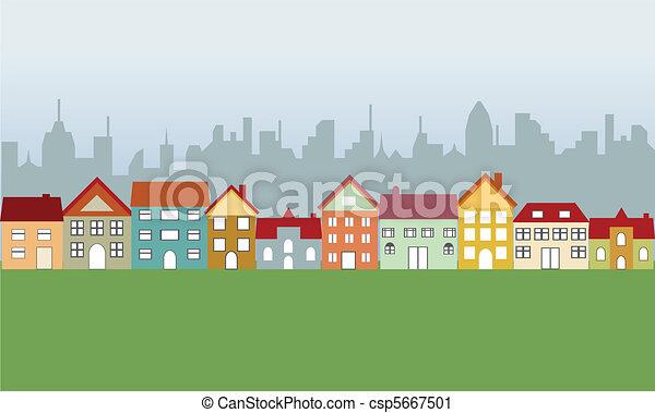 家, 郊外, 都市 - csp5667501