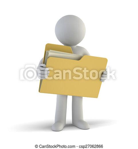 小さい, ファイル, 3d, -, 人々 - csp27062866