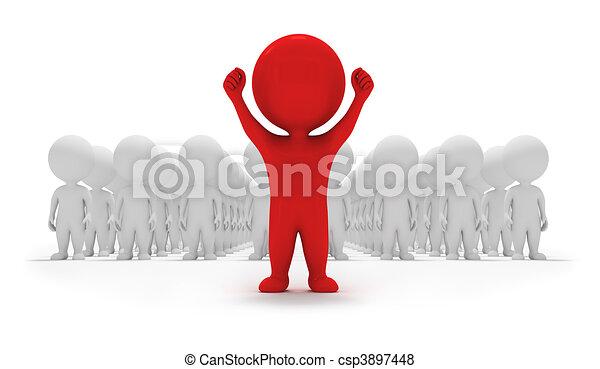 小さい, ボランティア, -, 3d, 人々 - csp3897448