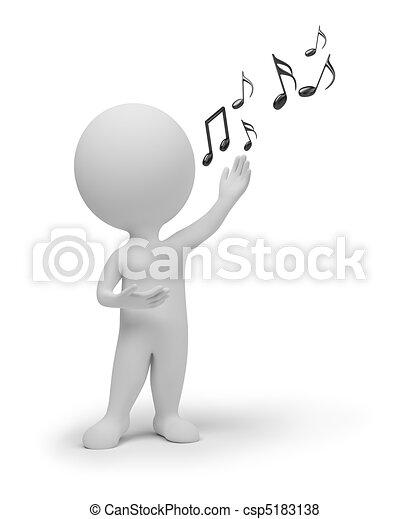 小さい, 歌手, 3d, -, 人々 - csp5183138