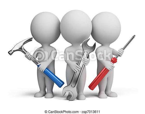 小さい, -, 3d, 修理工, 人々 - csp7013611