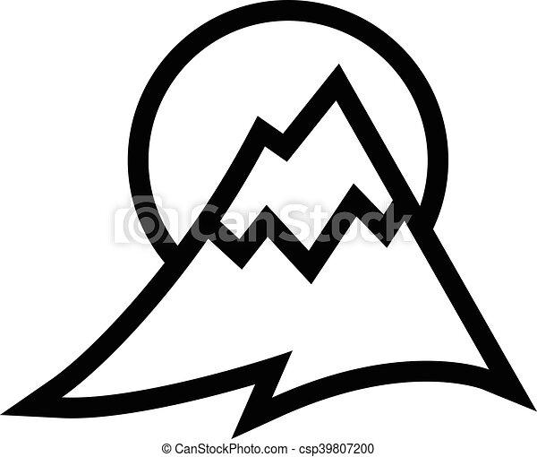 山地, ベクトル, アイコン - csp39807200