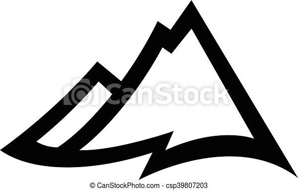 山地, ベクトル, アイコン - csp39807203