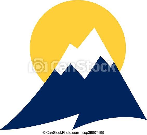 山地, ベクトル, アイコン - csp39807199